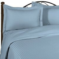 1200 Thread Count Egyptian Cotton Sky Blue Striped All Bedding Items US Size