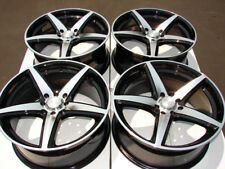 16 4x100 4x108 Black Rims Fits Ford Focus Fiesta Miata Civic Versa 4 Lug Wheels