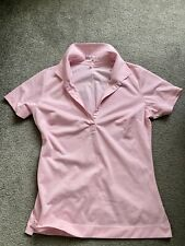 Nike Golf Womens Baby Pink Polo Shirt Sz S Short Sleeve Dri-fit Golf
