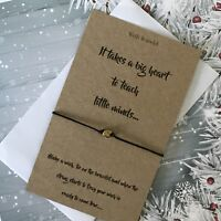 Wish Bracelet Teacher Secret Santa Charm Card Christmas Gift & Envelope Y26