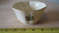 """Lenox Holiday Special China 5"""" Dip Serving Bowl Soup Candy Holly Berry"""