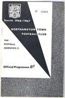 Northampton Town v Bury 1966/7