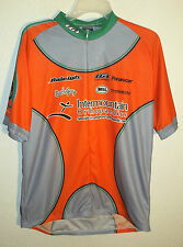 orange & gray Boise Idaho area cycling jersey by Louis Garneau size XL