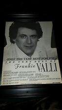 Frankie Valli The Very Best Of Rare Original Promo Poster Ad Framed!