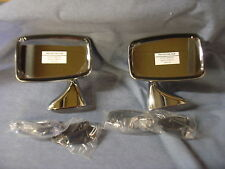NEW TRIUMPH TR6 STAINLESS DOOR MIRRORS PAIR