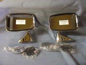 NEW AUSTIN CLASSIC MINI STAINLESS DOOR MIRRORS PAIR GAM215 GAM216