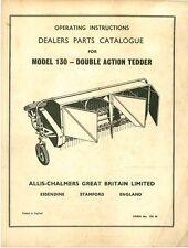 ALLIS Chalmers modello 130 DOPPIA AZIONE tedder OP manuale