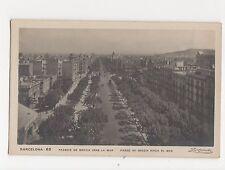 Spain, Barcelona, Passeig de Gracia Vers La Mar RP Postcard, A565