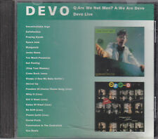 DEVO - q:are we not men? a:we are devo / devo live CD