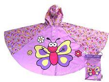 Bugzz Niños Niña Mariposa Poncho Capa de Lluvia Mac Impermeable Para Niños/Childs Bug