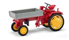BUSCH Mehlhose 210005000 H0 1:87 Traktor RS09 Pritsche+Mähbalken, Rot NEU in OVP