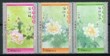 Macao Macau 2019 MNH Lotus Flower 3v Strip Flowers Nature Stamps