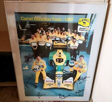 Michael Schumacher original signed Benetton F1 Team CAMEL framed big poster  '92