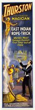 Indian Magic Rope Trick 1927 Thurston Magician Poster Giclee Canvas Print 13x40