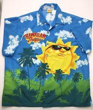 J308 Hawaiian Tropic Blue Sky Happy Summer Sun Sunshine Camp Shirt Tag sz XL