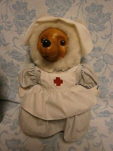 RAIKES  BEAR 4260/7500 NURSE MARGARET WOOD FACE AND PAWS SIGNED & NUMBERED