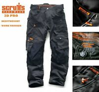 SCRUFFS 3D PRO TROUSERS WORKER WORKWEAR DARK LEAD/ GRAPHITE COLOURWAY PLUS TRADE