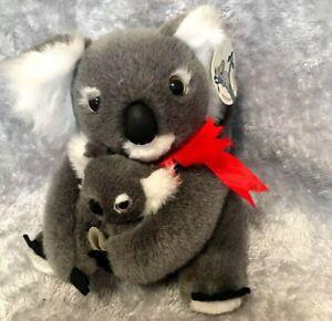 "Australia Souvenir Koala Bear Mother With Babies Tag 8"" Soft Toy"
