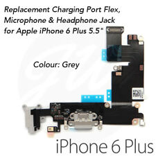 """Grey iPhone 6 Plus 5.5"""" High Quality OEM Charging Port Charger Flex Cable & Mic"""