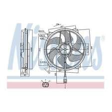 Fits Peugeot 307 1.6 HDi 110 Genuine Nissens Engine Cooling Radiator Fan