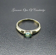 Dainty 9K gold 9ct Gold Apatite Solitaire Ring Size N 1.45g US Size 6 3/4