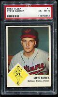 1963 Fleer Baseball #1 STEVE BARBER Baltimore Orioles PSA 6 EX-MT