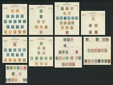 FRANCE STAMPS 1853-1878 9 ALBUM PAGES INC RANGES OF NAPOLEON & BORDEAUX CERES