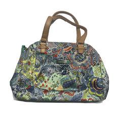 Oilily Womens Carry All Color Bomb Blue Blau Floral Purse Shoulder Bag  EUC 533