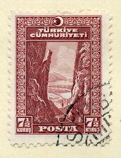 TURKEY;   1930 early River Sakarya  issue fine used 7.5k.
