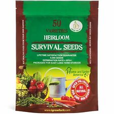 All Natural Non Gmo Vegetable Seed Kit (50 Varieties 9500 Seeds)