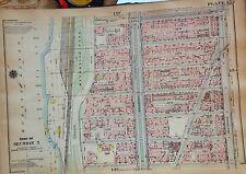 1925 HARLEM CCNY MANHATTAN NYC G.W. BROMLEY PLAT ATLAS MAP 12X17