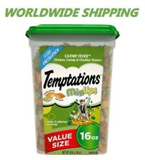 Temptations Classic Cat Treats Catnip Fever Chicken & Cheddar 16 Oz WORLD SHIP