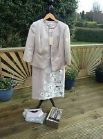 MOTHER OF THE BRIDE/GROOM WEDDING OUTFIT SIZE 10 NEW-DRESS,JACKET,SHOES & BAG