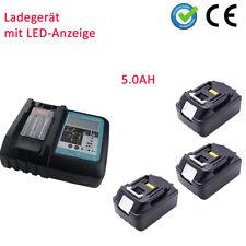 3x Makita Akku 18V 5Ah BL1850 BL1840 B LED LXT DC18RC chargeur avec écran LED FR