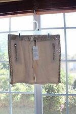 NWT Belair Gold Shimmer Striped Drawstring Sweat Shorts Size T2 Small S Juniors