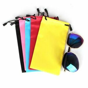 Sunglass Bag Eyeglasses Pouch New High Quality Drawstring Fabric Smooth Surfaces