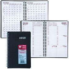 """2019 Brownline CB75V.BLK Duraflex Weekly Planner, 8 x 5"""""""