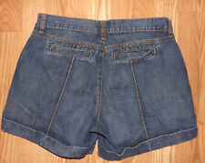 APT 9 SIZE 8 100% COTTON COMFY WOMENS STRETCHY PREWASHED BLUE SHORTS JEANS