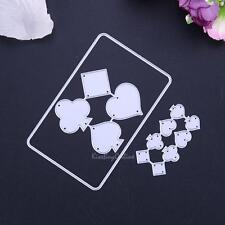 Playing Cards Metal Cutting Dies DIY Stencil Scrapbooking Album Paper Card Craft