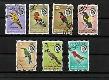 Bechuanaland, QEII 1961 Birds complete set to 10c used (8023)