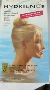 Clairol Hydrience 02 Beach Beige/Light Blonde Hair Color Level 3 ~~Damaged Box