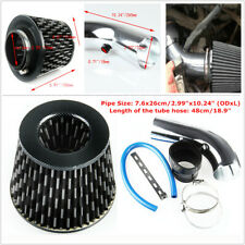 "Car SUV Aluminum Alloy Air Intake Pipe Diameter 3""+Cold Air Intake Filter+Clamp"