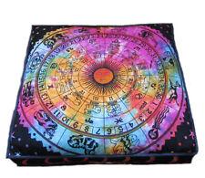 "35"" Square Floor Cushion Pillow Case Seating Cover Meditation Pet Ottoman Zodiac"
