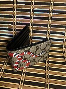 wallet GG Men Gucci Black snake Leather Wallet