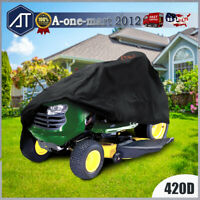 """54"""" Heavy Duty Riding Lawn Mower Tractor Cover Waterproof UV Protector Garden"""
