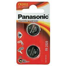 Paquete De 2 Panasonic CR2032 baterías de celda de moneda de litio 3V 2032 Batería