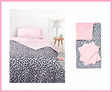 Victoria Secret Pink BED IN A BAG GRAY Leopard COMFORTER SHEET PILLOW CASE TWIN