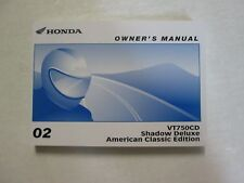 2002 HONDA VT750CD Shadow Deluxe American Classic Owners Manual FACTORY NEW BOOK