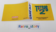 Nintendo Game Boy Tetris 2 Notice / Instruction Manual