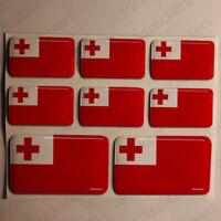 Autocollant Tonga Drapeau 3D Résine Adhésif Relief Autocollants Tonga Voiture